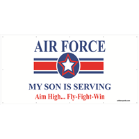 8'x4' Air Force Star Banner - Son Serving
