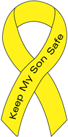 Ribbon Decal Son Yellow