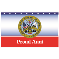5'x3' Proud Aunt Army Banner