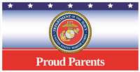 6'x3' Proud Parents Marines Banner