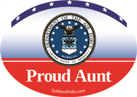 Proud Aunt Air Force Decal