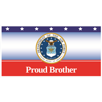 6'x3' Proud Brother Air Force Banner