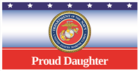 6'x3' Proud Daughter Marines Banner