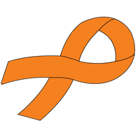 Customizable Ribbon Decal - Orange