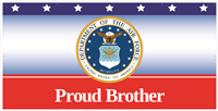 8'x4' Proud Brother Air Force Banner