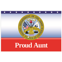 3'x2' Proud Aunt Army Flag