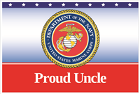 3'x2' Proud Uncle Marines Flag