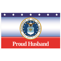 5'x3' Proud Husband Air Force Flag