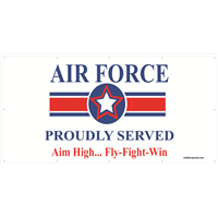 8'x4' Air Force Star Banner - Proudly Served