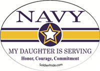 Navy Star Decal - Daughter Serving