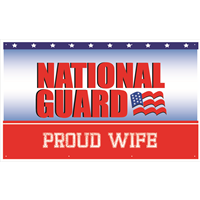 5'x3' Proud Wife National Guard Banner