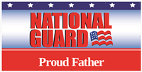 8'x4' Proud Father National Guard Banner