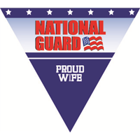 Proud Wife National Guard Pennant