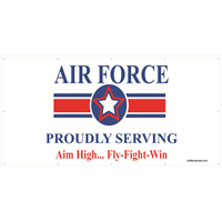 8'x4' Air Force Star Banner - Proudly Serving