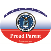 Proud Parent Air Force Decal