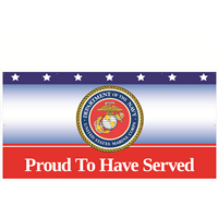 8' x 4' Proud To Have Served Marines Banner