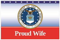 3'x2' Proud Wife Air Force Flag