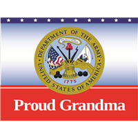 Proud Grandma Army Yard Sign