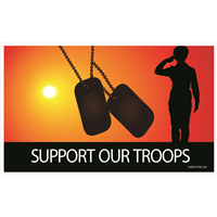 5'x3' Support Our Troops Sunset Female Flag