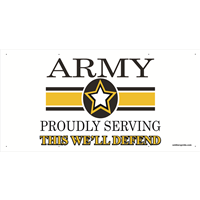 6'x3' Army Star Banner - Proudly Serving