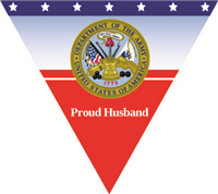 Proud Husband Army Pennant