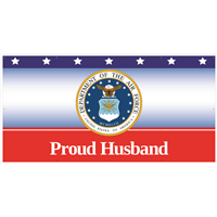 8' x 4' Proud Husband Air Force Banner