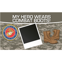5'x3' My Hero - Marines Banner