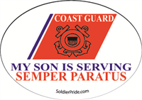 Coast Guard Star Decal - Son Serving