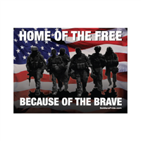 Home of Free Because of Brave Yard Sign
