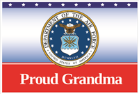 3'x2' Proud Grandma Air Force Flag