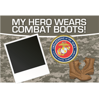 3'x2' My Hero - Marines Flag