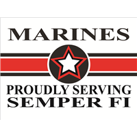 Marines Star Yard Sign - Proudly Serving