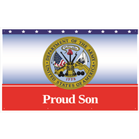 5'x3' Proud Son Army Banner
