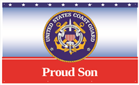 5'x3' Proud Son Coast Guard Banner
