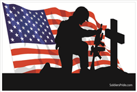 3'x2' Kneeling Soldier Male Flag 1
