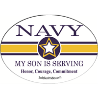 Navy Star Decal - Son Serving