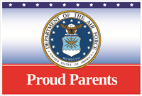 3'x2' Proud Parents Air Force Flag