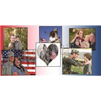 6'x3' Custom Photo Collage - Red, White, and Blue