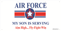 6'x3' Air Force Star Banner - Son Serving