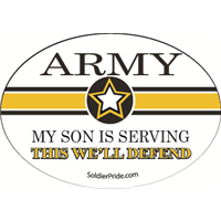 Army Star Decal - Son Serving