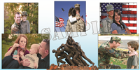 6'x3' Custom Photo Collage - Soldiers
