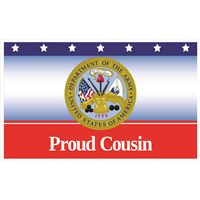 5'x3' Proud Cousin Army Flag
