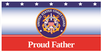 6'x3' Proud Father Coast Guard Banner