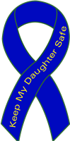 Ribbon Decal Daughter Blue