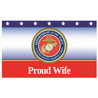 5'x3' Proud Wife Marines Flag