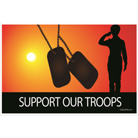 3'x2' Support Our Troops Female Soldier Flag
