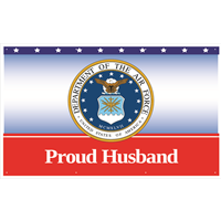 5'x3' Proud Husband Air Force Banner