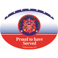 Proud To Have Served Coast Guard Decal