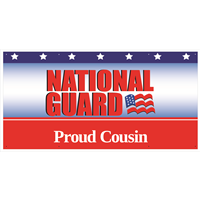 6'x3' Proud Cousin National Guard Banner