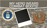 5'x3' My Hero - Air Force Flag